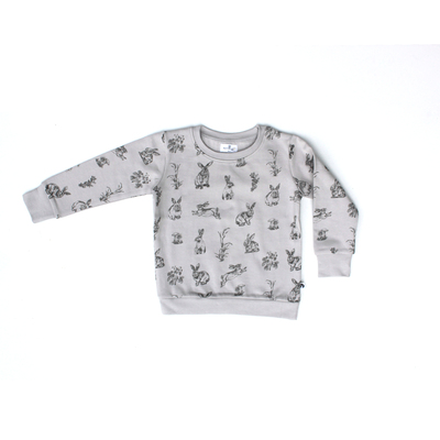 Burrowers fleece jumper - grey with dark grey