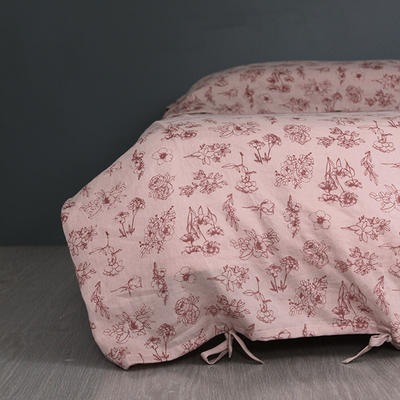 Forage / Blush Bow duvet cover