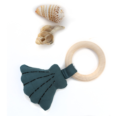Teal Clam Teether
