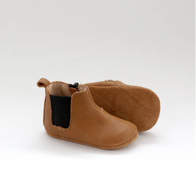 Chelsea Leather Boot - Caramel