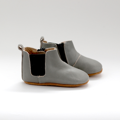 Chelsea Leather Boot - Grey